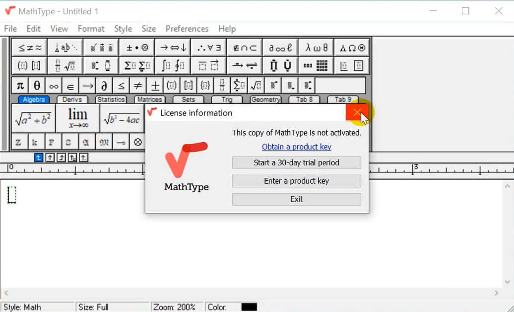 Tải Mathtype 7.4.4 full crack - Cài Mathtype vào Word