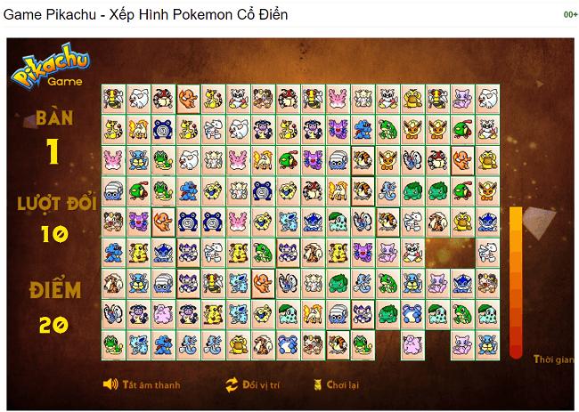 Cách tải game Pikachu cổ điển, Pikachu phiên bản cũ